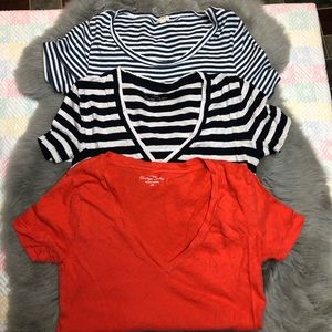 Bundle Of Three J.Crew Tees Size XXS/XS